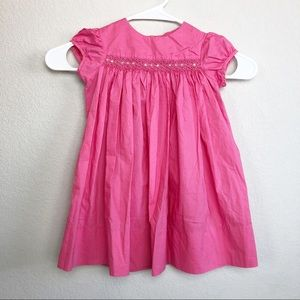 Jacadi Paris Pink Smocked Dress Size 2